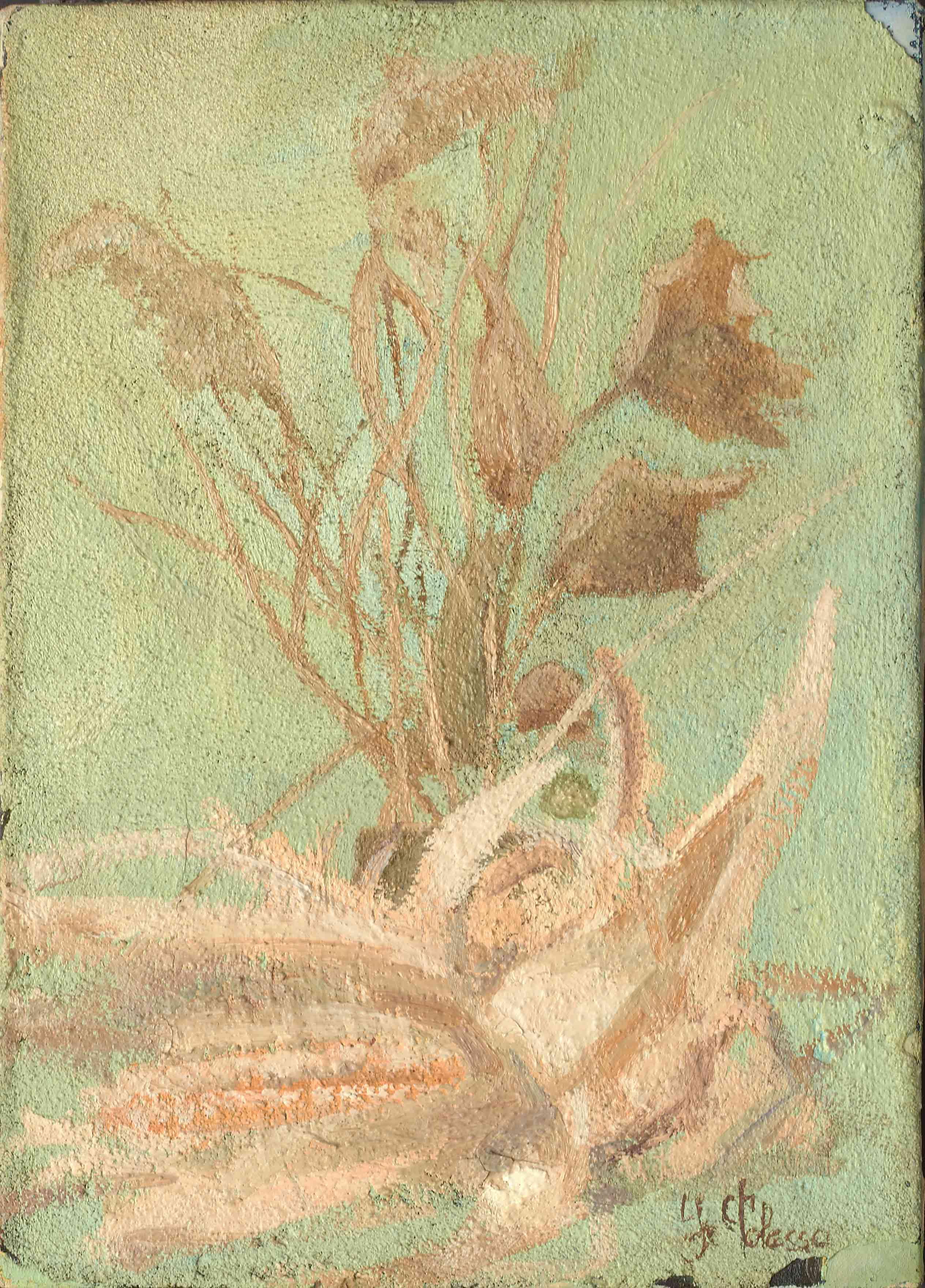 quadro natura morta, olio su tela, opera d'arte del maestro polesso fulvio pittore chiarista milano italia