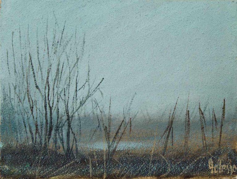 quadro paesaggio ticino, italia. polesso fulvio pittore chiarista milano