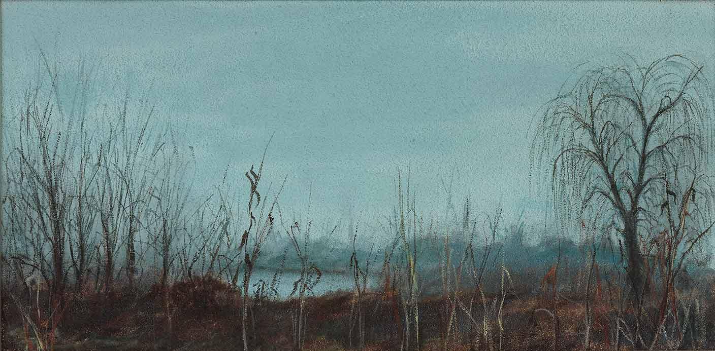 quadro paesaggio, maestro polesso fulvio pittore chiarista milano italia