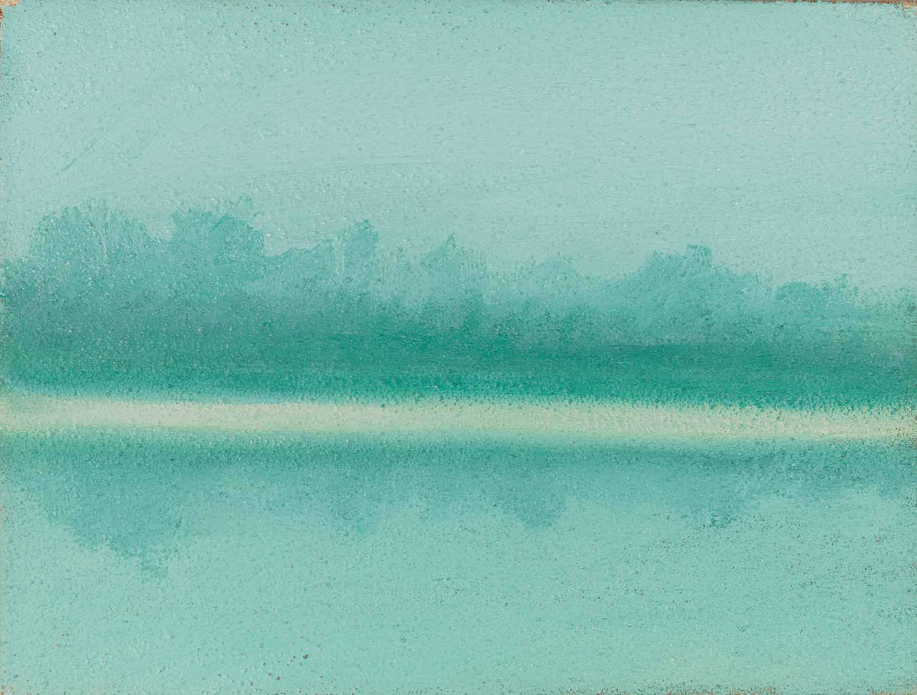 quadro paesaggio, olio su tela, pittore fulvio polesso,milano
