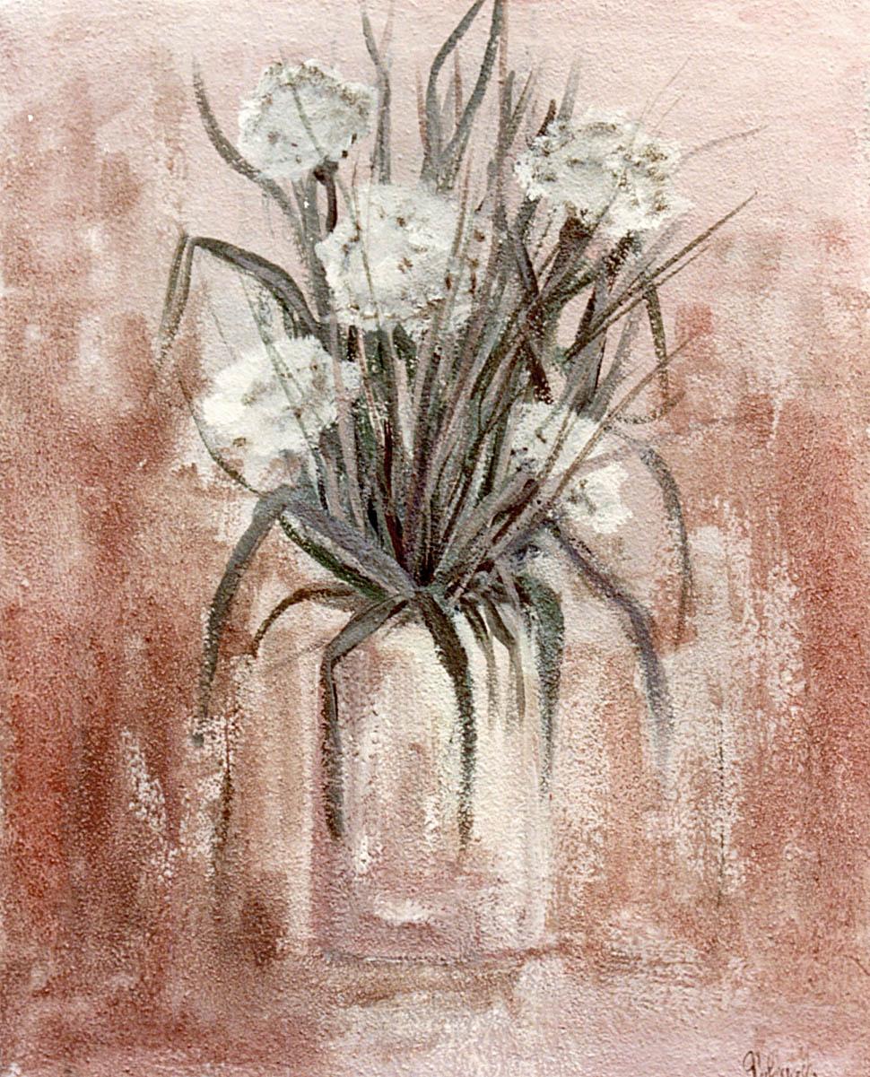 quadro vaso di fiori, garofani, pittore chiarisca Polesso Fulvio