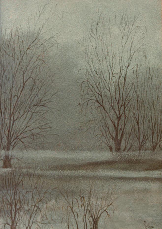 quadro a olio pittore chiarisca Polesso Fulvio