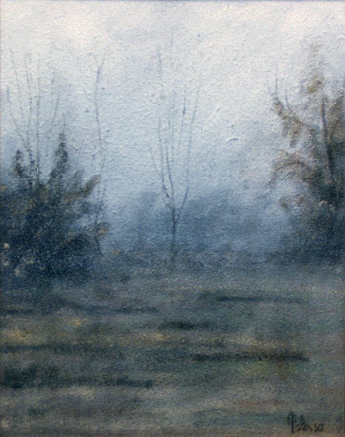 quadro ad olio di Polesso Fulvio, paesaggio del Ticino
